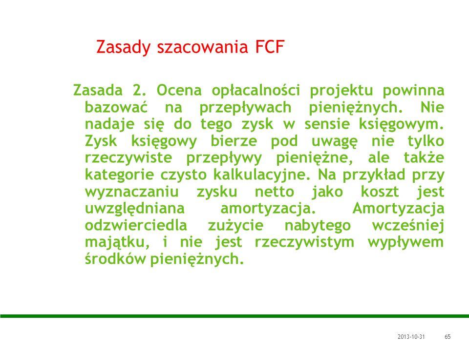 Zasady szacowania FCF