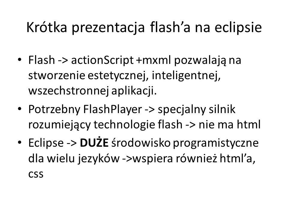 Krótka prezentacja flash'a na eclipsie