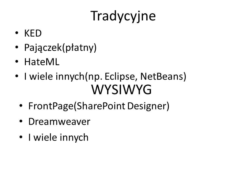 Tradycyjne WYSIWYG KED Pajączek(płatny) HateML