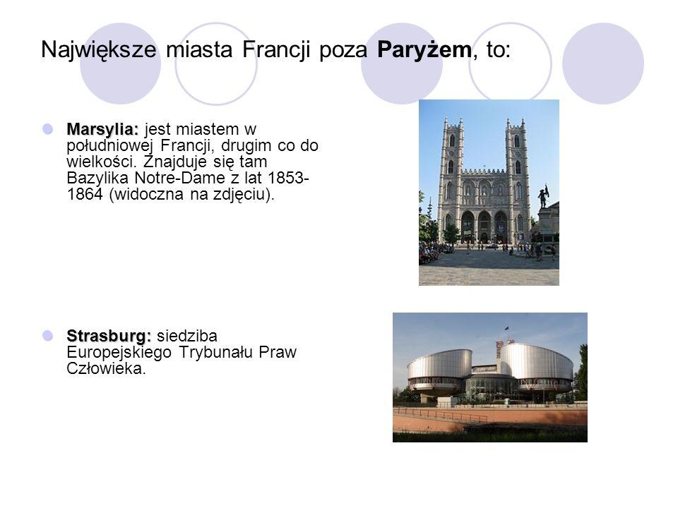 Największe miasta Francji poza Paryżem, to: