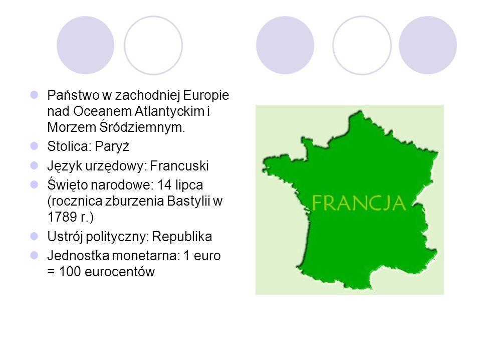 Państwo w zachodniej Europie nad Oceanem Atlantyckim i Morzem Śródziemnym.