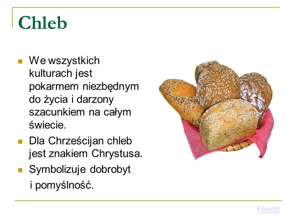 Chleb We wszystkich kulturach jest pokarmem niezbędnym do życia i darzony szacunkiem na całym świecie.