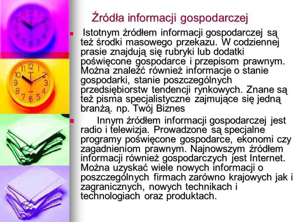 Źródła informacji gospodarczej