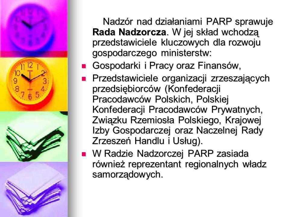 Nadzór nad działaniami PARP sprawuje Rada Nadzorcza
