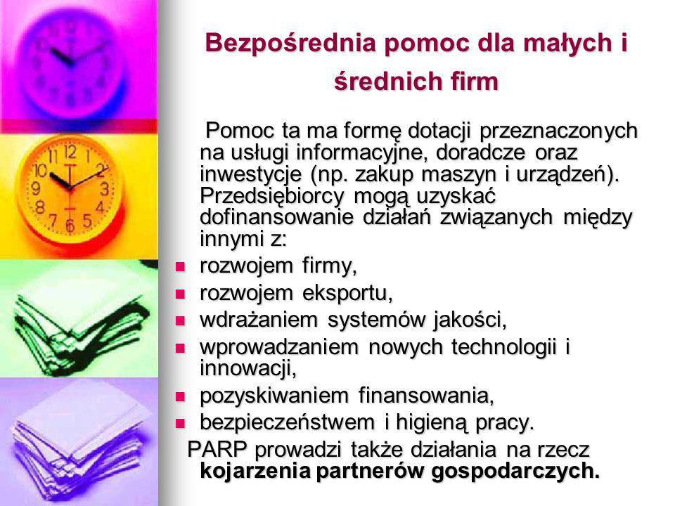 Bezpośrednia pomoc dla małych i średnich firm
