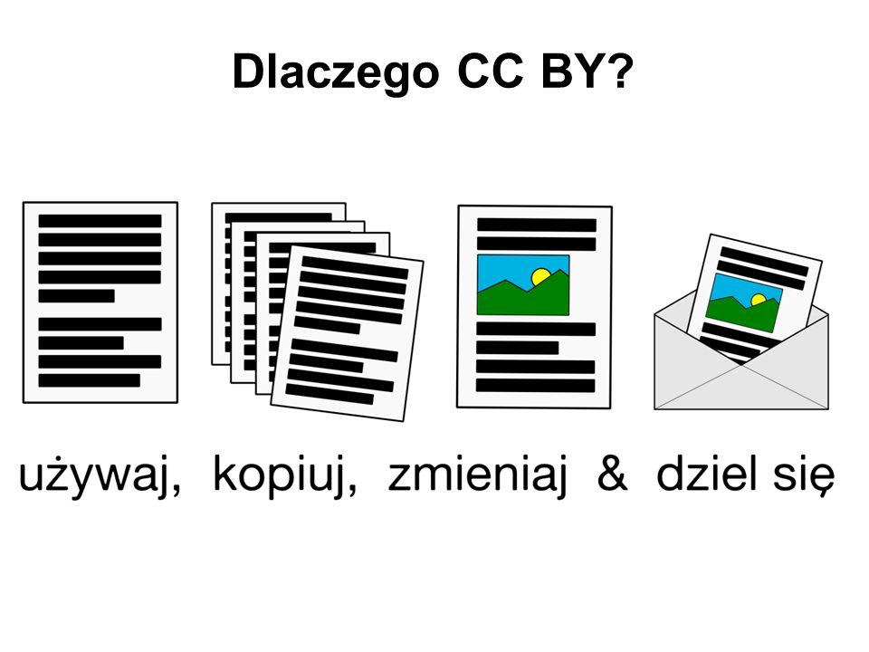 Dlaczego CC BY