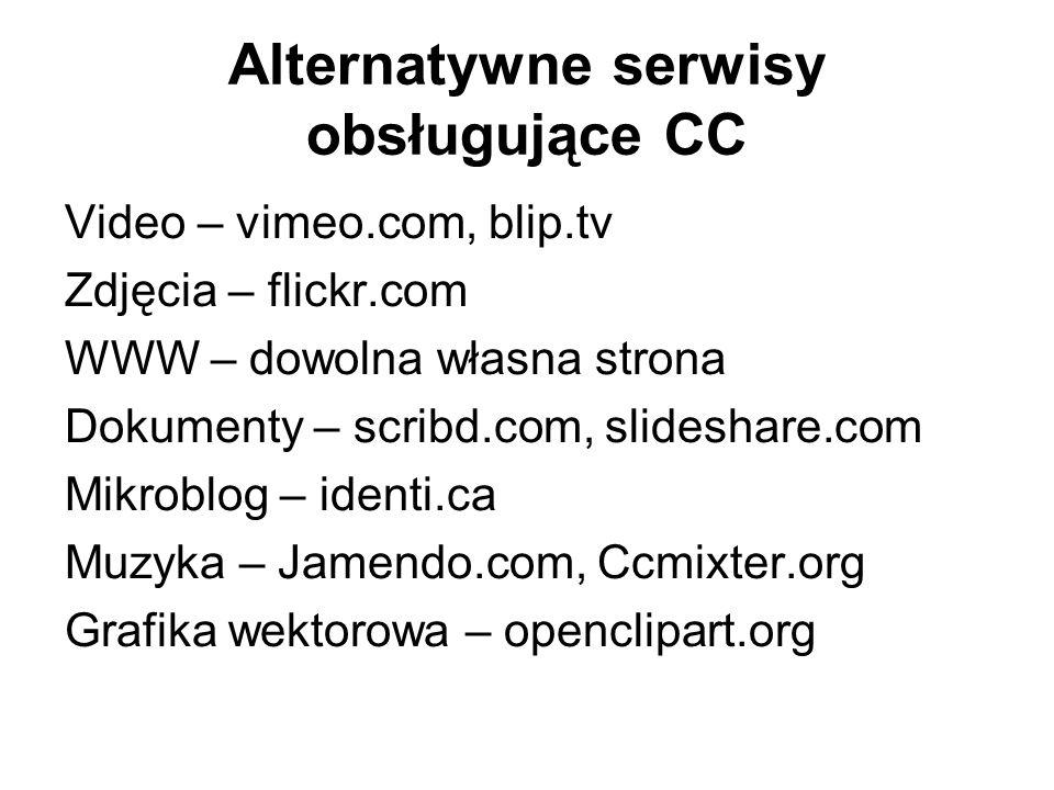 Alternatywne serwisy obsługujące CC