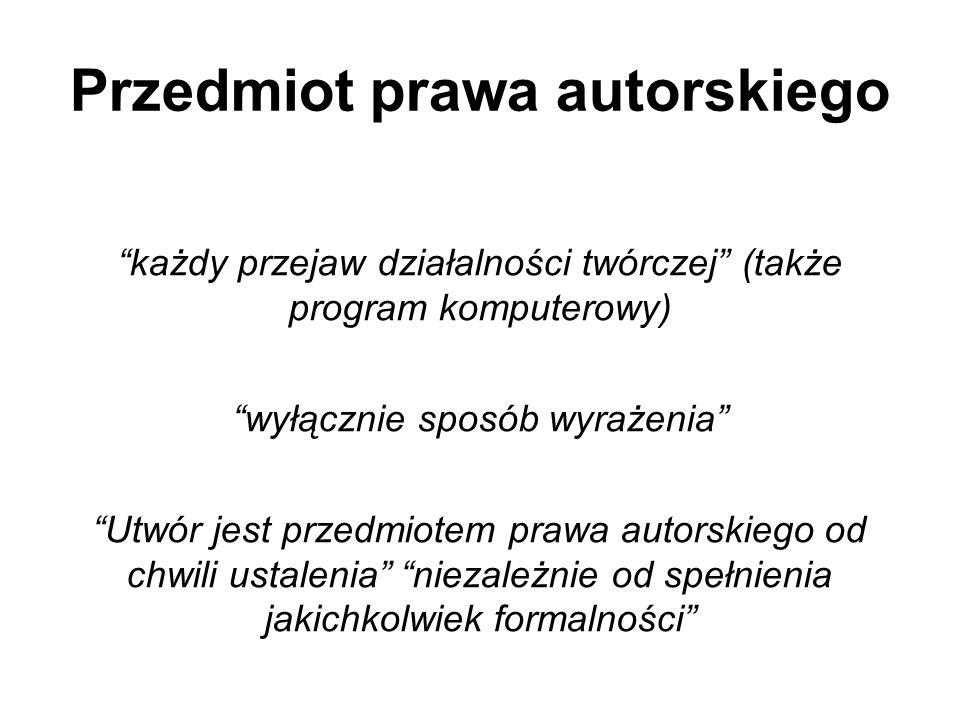 Przedmiot prawa autorskiego