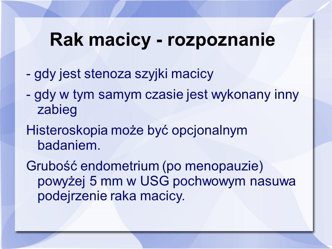 Rak macicy - rozpoznanie