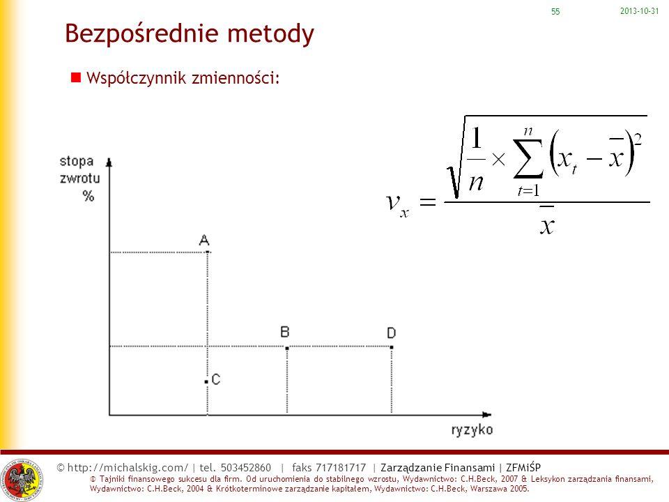 2017-03-22 Bezpośrednie metody Współczynnik zmienności: