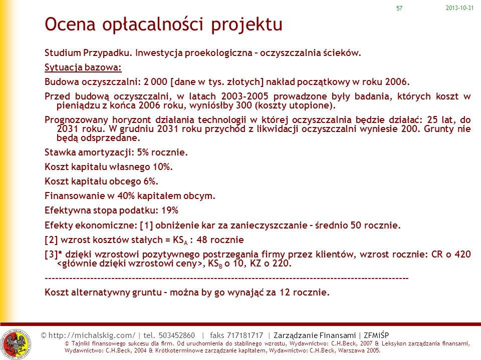 Ocena opłacalności projektu