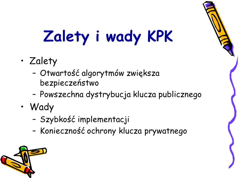 Zalety i wady KPK Zalety Wady