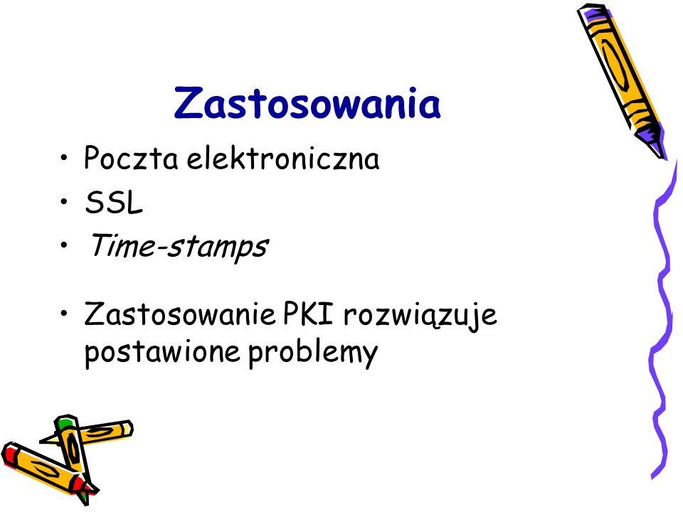 Zastosowania Poczta elektroniczna SSL Time-stamps
