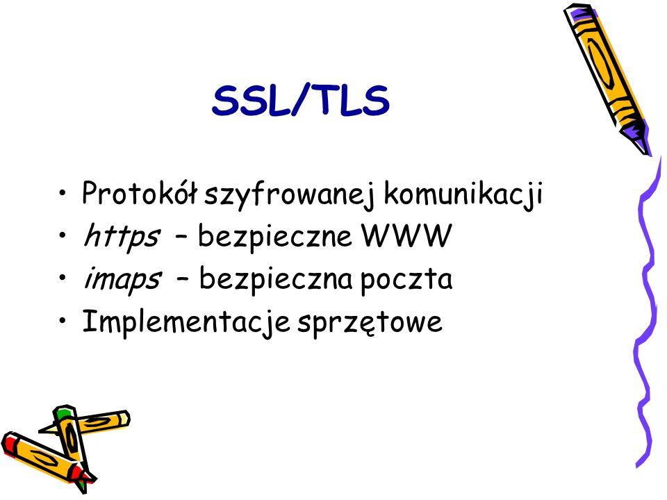 SSL/TLS Protokół szyfrowanej komunikacji https – bezpieczne WWW