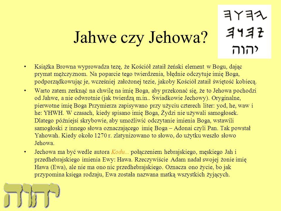 Jahwe czy Jehowa