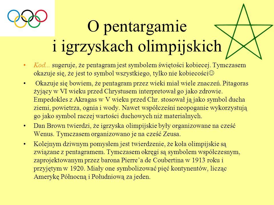 O pentargamie i igrzyskach olimpijskich