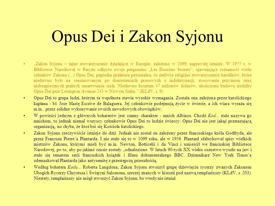 Opus Dei i Zakon Syjonu