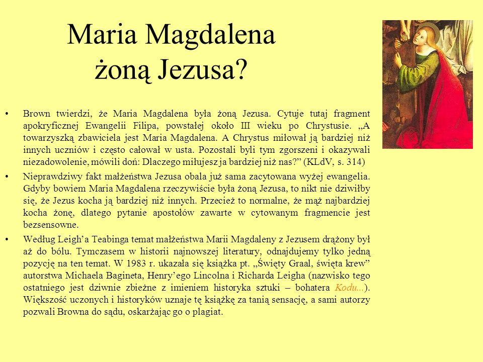 Maria Magdalena żoną Jezusa