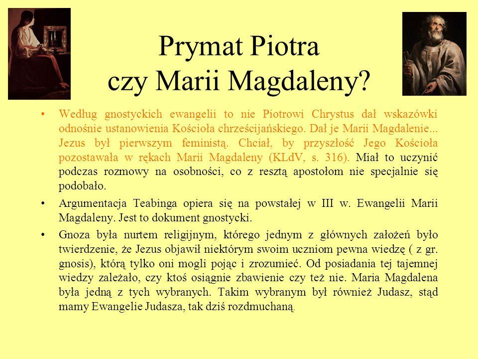 Prymat Piotra czy Marii Magdaleny