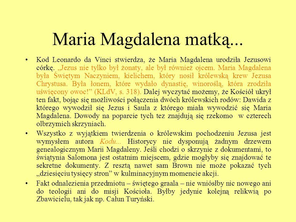 Maria Magdalena matką...