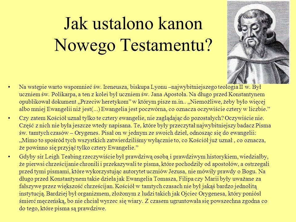 Jak ustalono kanon Nowego Testamentu
