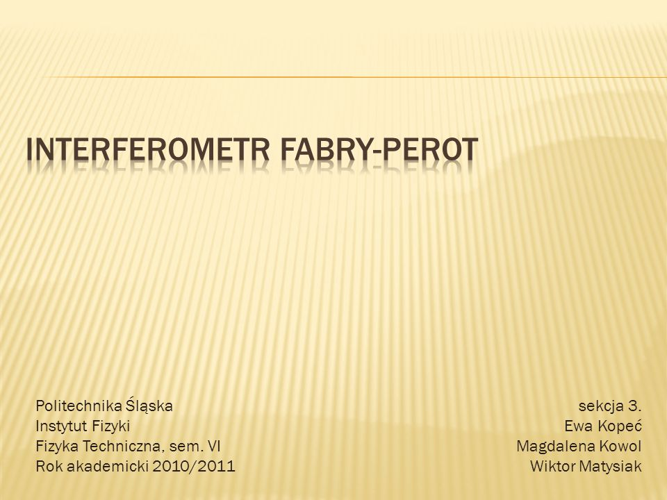 Interferometr Fabry-perot