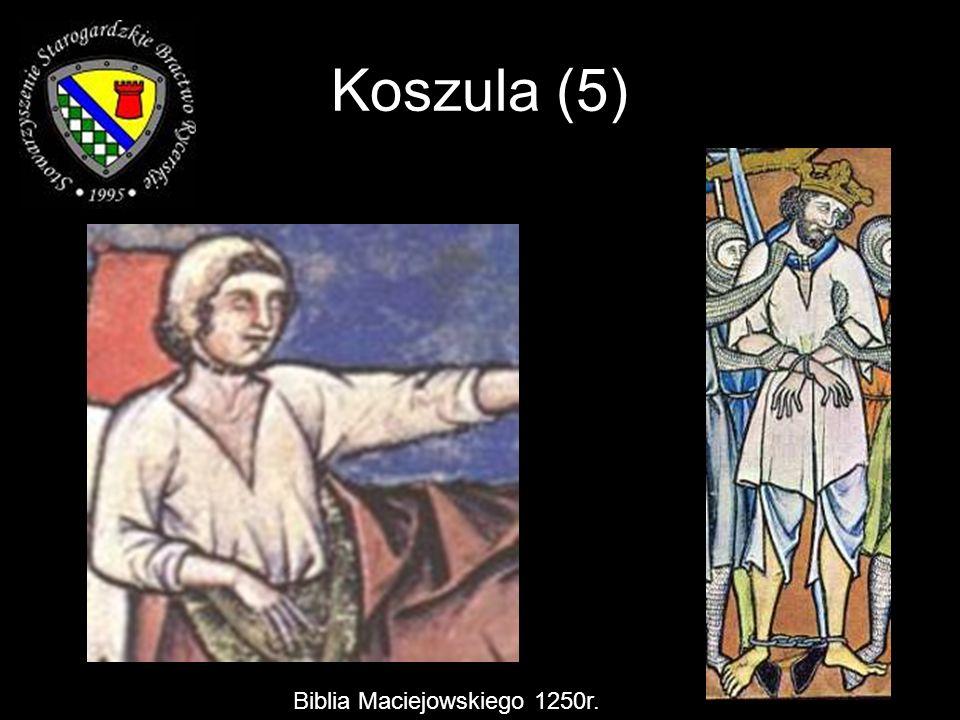 Koszula (5) Biblia Maciejowskiego 1250r.