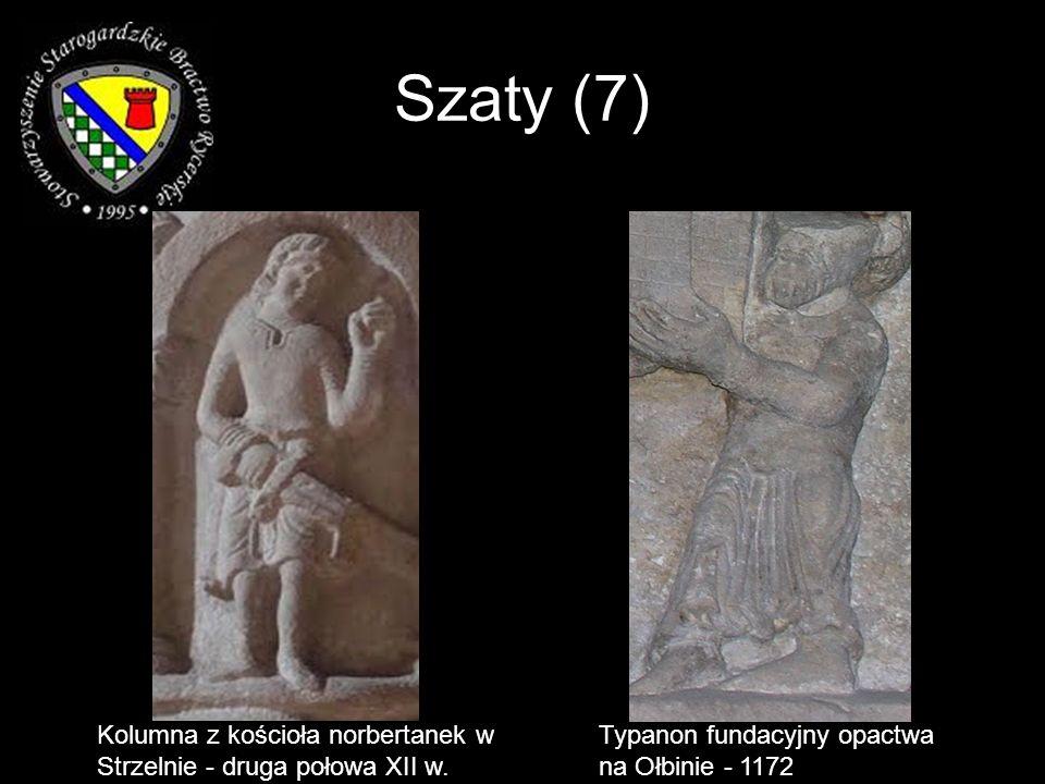 Szaty (7)Kolumna z kościoła norbertanek w Strzelnie - druga połowa XII w.