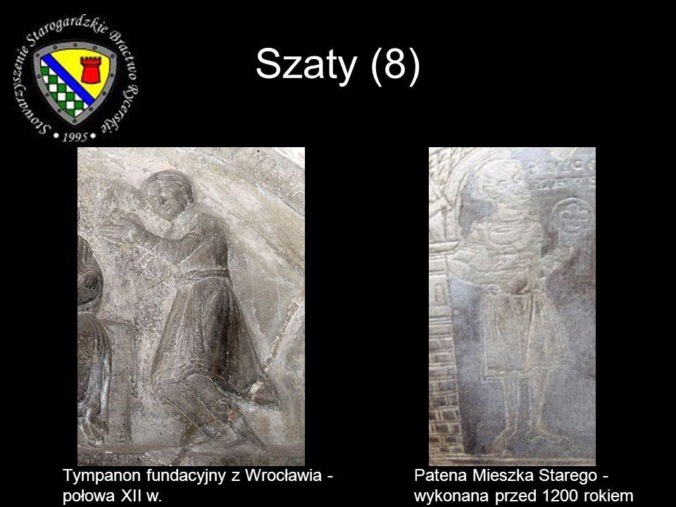 Szaty (8) Tympanon fundacyjny z Wrocławia - połowa XII w.