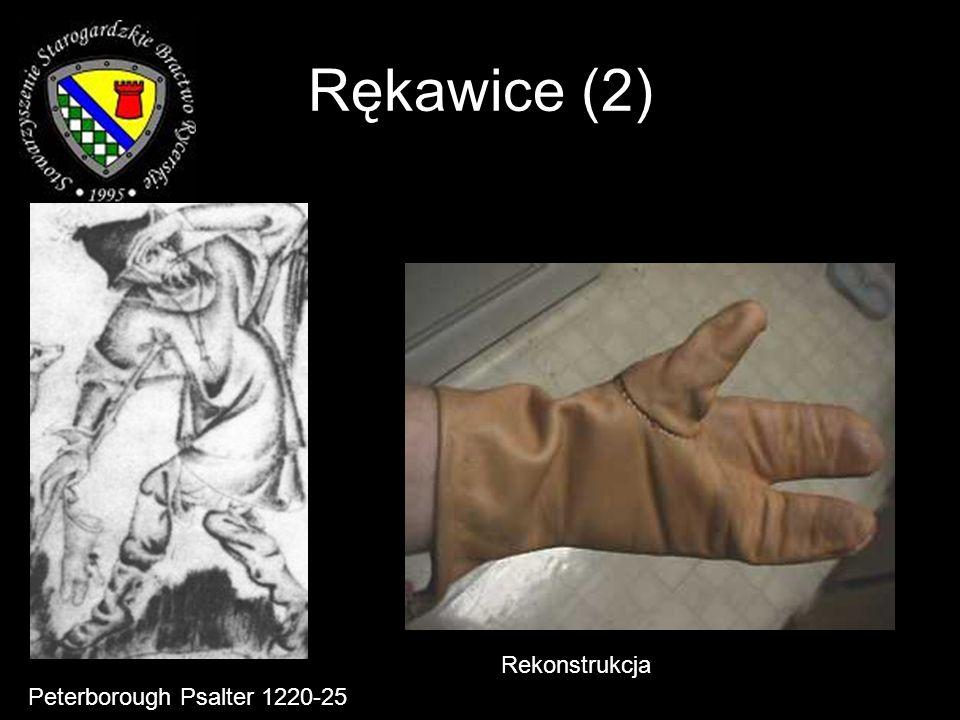 Rękawice (2) Rekonstrukcja Peterborough Psalter 1220-25