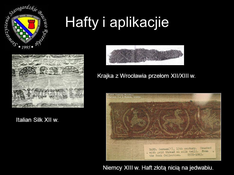 Hafty i aplikacjie Krajka z Wrocławia przełom XII/XIII w.
