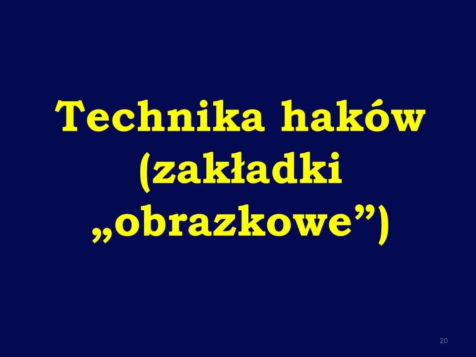"""Technika haków (zakładki """"obrazkowe )"""