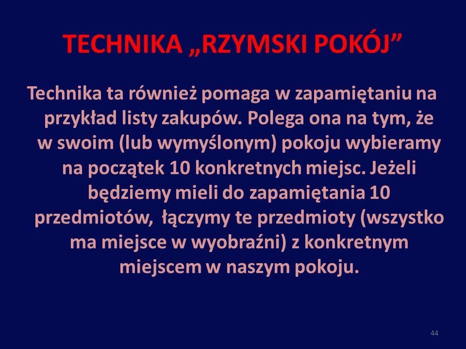 """TECHNIKA """"RZYMSKI POKÓJ"""
