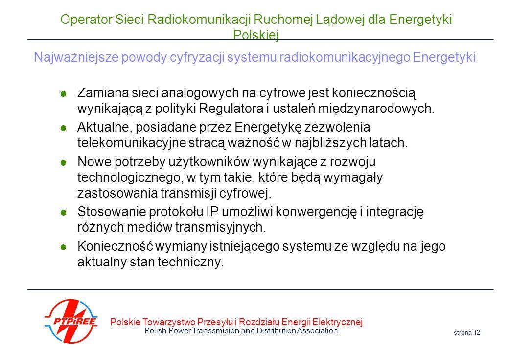 Najważniejsze powody cyfryzacji systemu radiokomunikacyjnego Energetyki