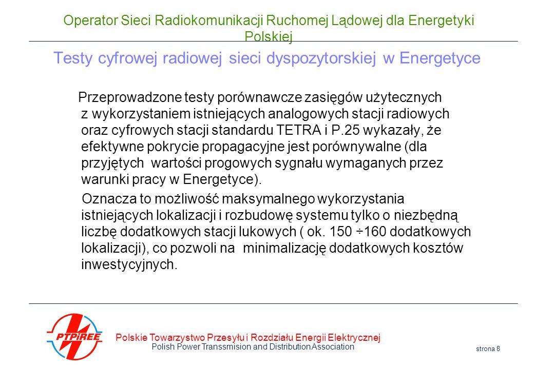 Testy cyfrowej radiowej sieci dyspozytorskiej w Energetyce