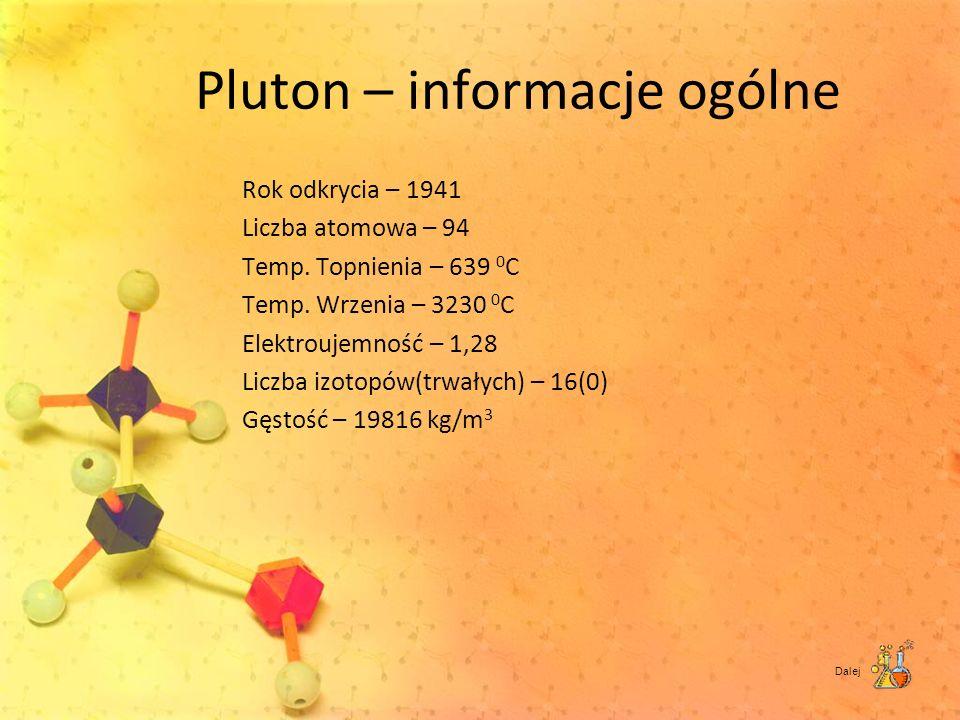 Pluton – informacje ogólne