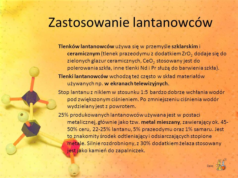 Zastosowanie lantanowców