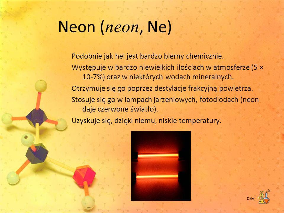 Neon (neon, Ne)