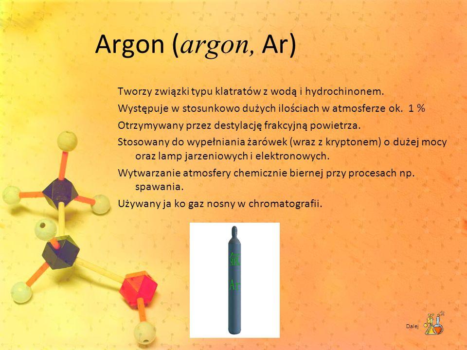 Argon (argon, Ar)