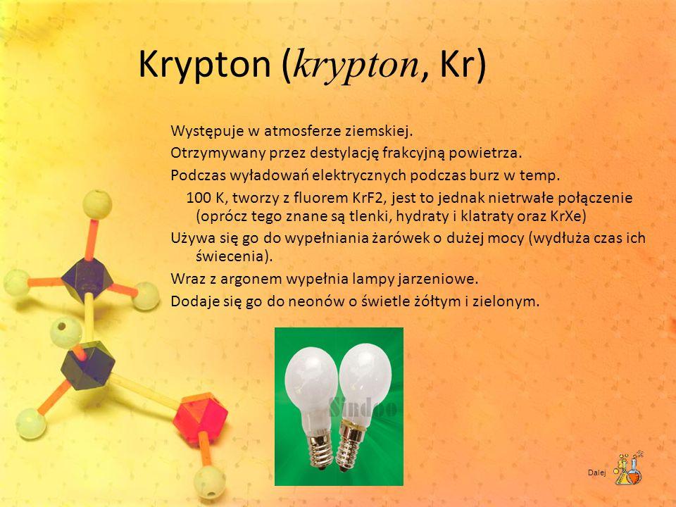 Krypton (krypton, Kr)