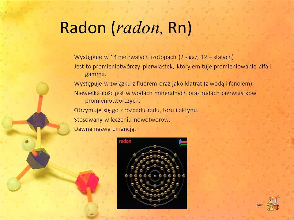 Radon (radon, Rn)