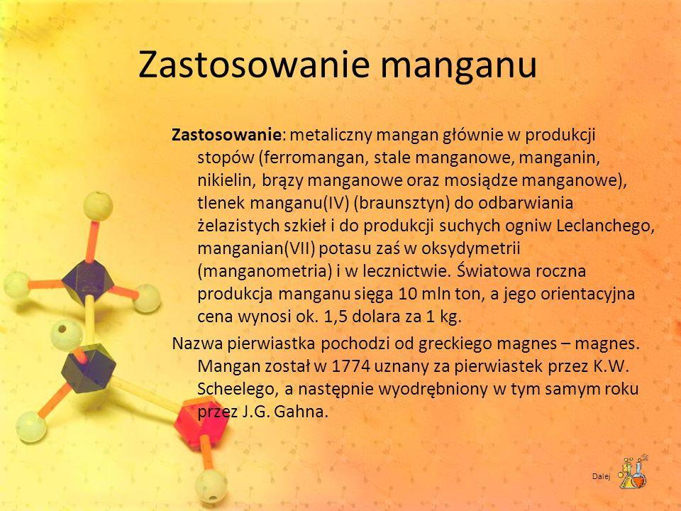 Zastosowanie manganu