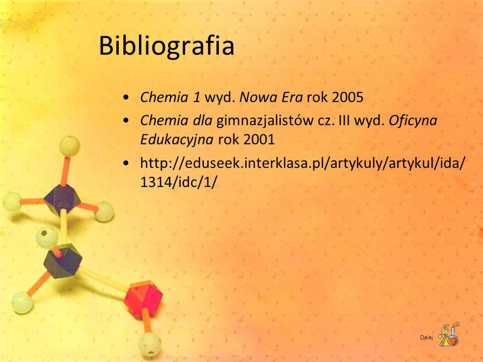 Bibliografia Chemia 1 wyd. Nowa Era rok 2005