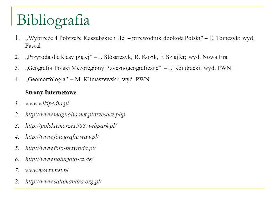 """Bibliografia""""Wybrzeże 4 Pobrzeże Kaszubskie i Hel – przewodnik dookoła Polski – E. Tomczyk; wyd. Pascal."""