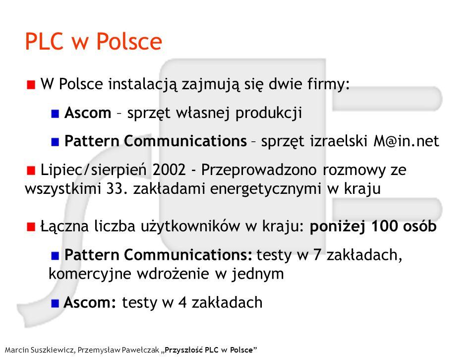 PLC w Polsce W Polsce instalacją zajmują się dwie firmy: