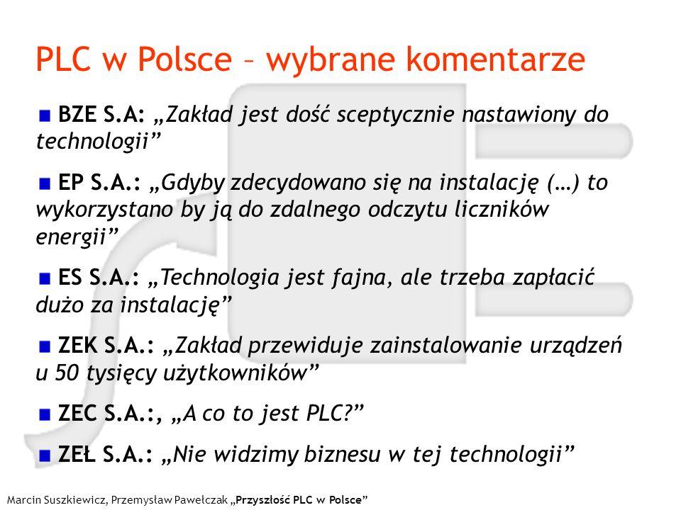 PLC w Polsce – wybrane komentarze