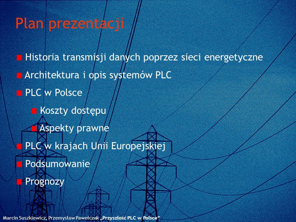 Plan prezentacji Historia transmisji danych poprzez sieci energetyczne