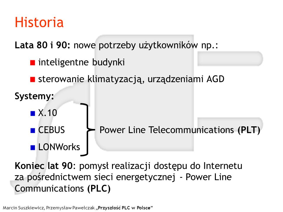 Historia Lata 80 i 90: nowe potrzeby użytkowników np.: