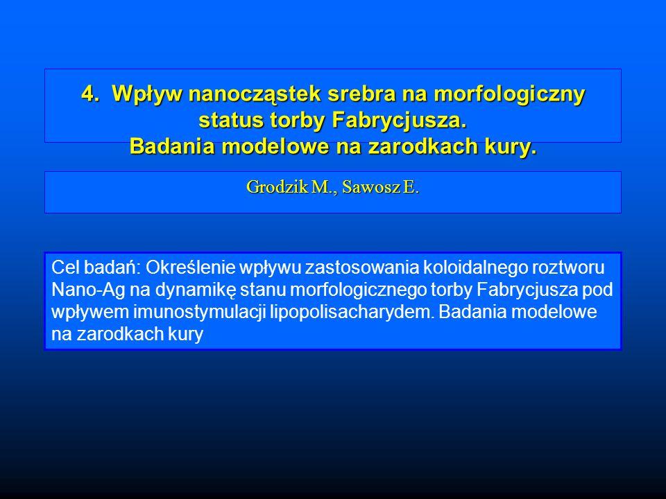 4. Wpływ nanocząstek srebra na morfologiczny status torby Fabrycjusza