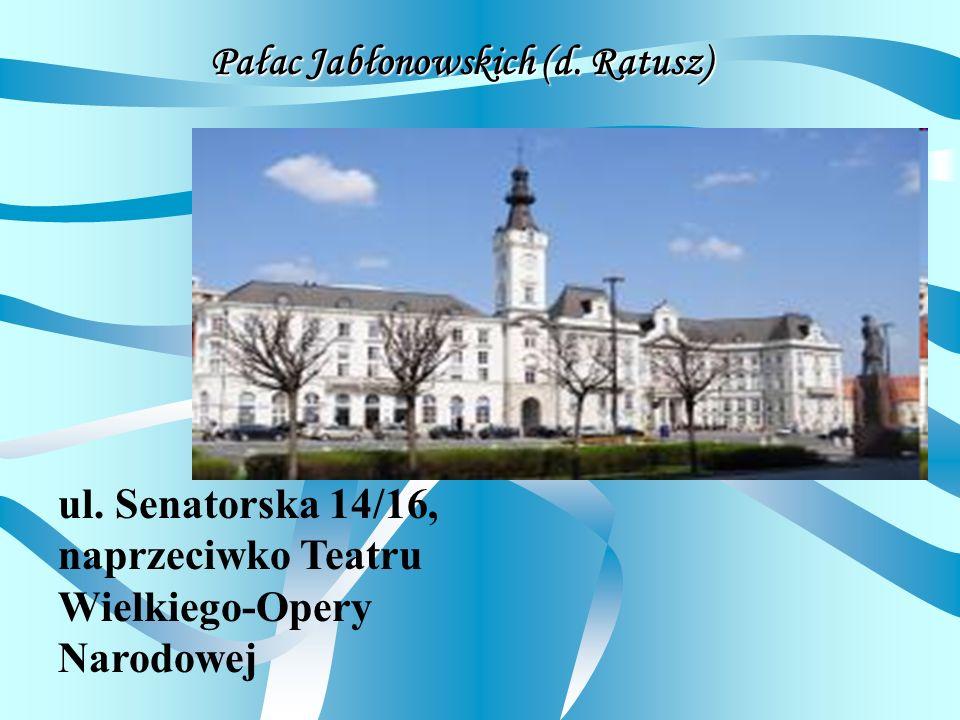 Pałac Jabłonowskich (d. Ratusz)